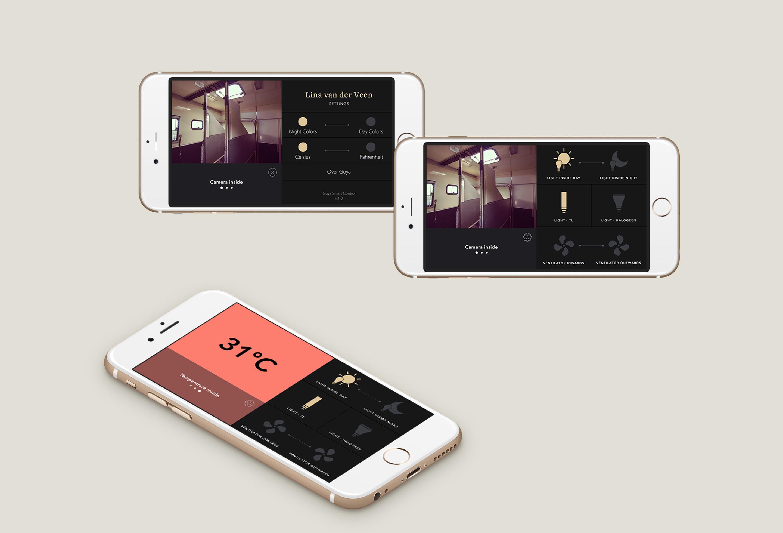 Goya App Design UX/UI Landscape