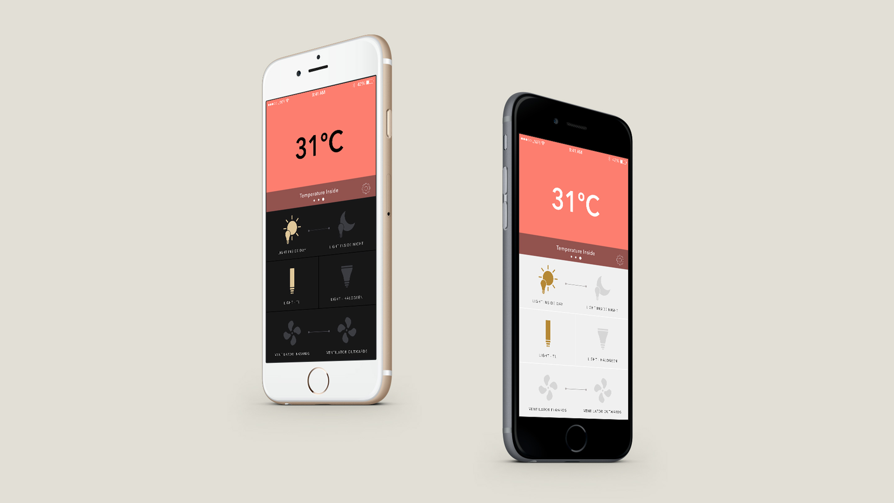 Goya App Design UX/UI Temperature