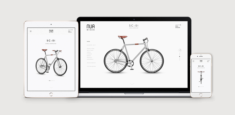 Nua Bikes Responsive Web Design